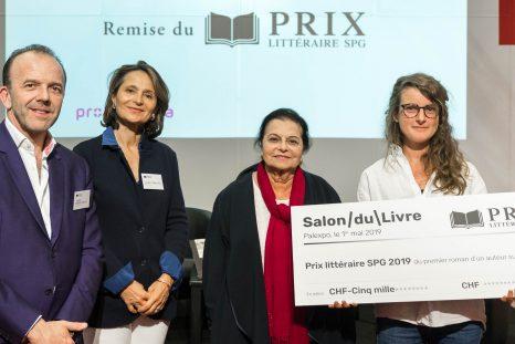 Remise du Prix littéraire SPG 2019, THierry Barbier-Mueller, Isabelle Falconnier, Mania Hahnloser, Claire May et Gabriella Zalapì