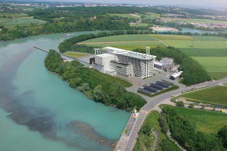 La future usine d'incinération des Cheneviers a été dimensionnée par rapport à la quantité d'énergie à produire.