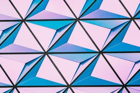 Papier peint digital rose et bleu