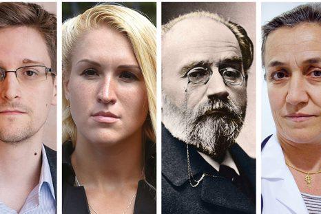 Edward Snowden, Anastasia Vasilieva, Émile Zola, Irène Frachon