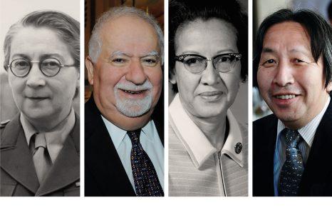 Portraits de Rose Valland, Vartan Gregorian, Katherine Johnson, Masahiro Hara